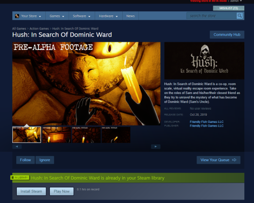 Hush steam preview